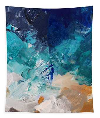 High As A Mountain- Contemporary Abstract Painting Tapestry