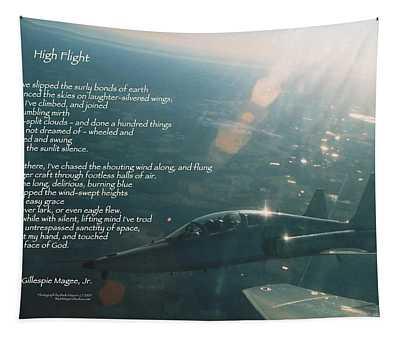 High Flight T-38c Tapestry