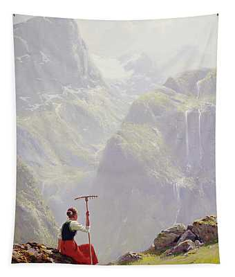 High In The Mountains Tapestry