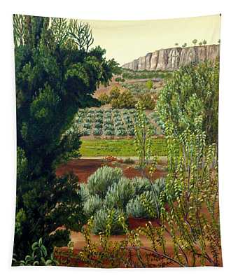 High Mountain Olive Trees  Tapestry
