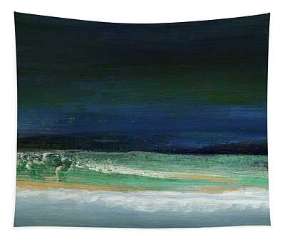 High Tide- Abstract Beachscape Painting Tapestry