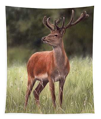 Highland Stag Painting Tapestry