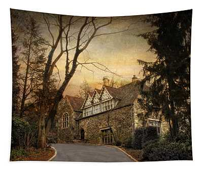 Hilltop Home  Tapestry