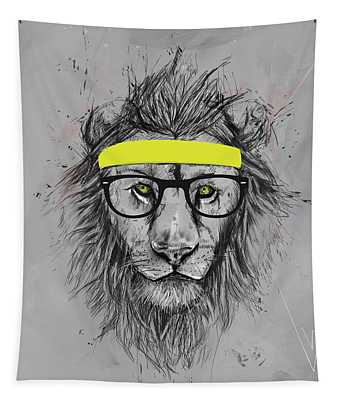 Hipster Lion Tapestry
