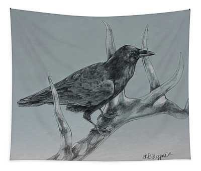 Hitchhiker Drawing Tapestry