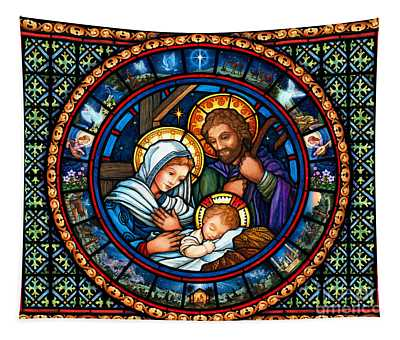 Holy Family Christmas Story Tapestry