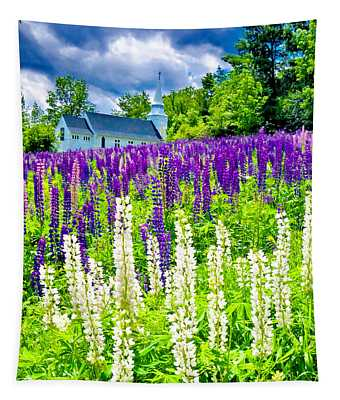 Holy Lupines Tapestry