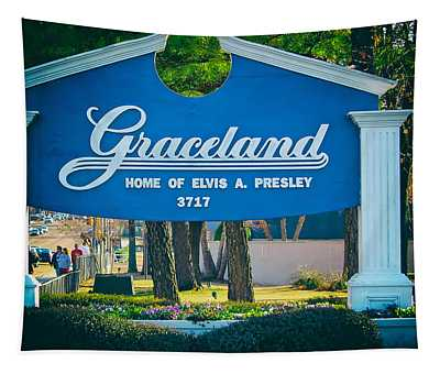 Home Of Elvis Tapestry