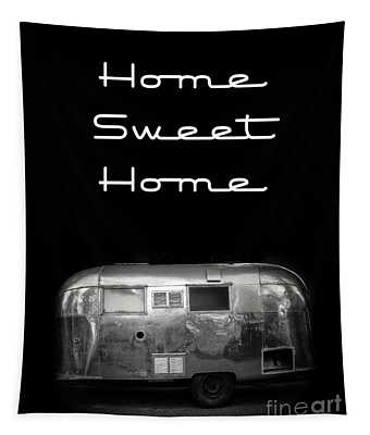 Tapestry featuring the photograph Home Sweet Home Vintage Airstream by Edward Fielding