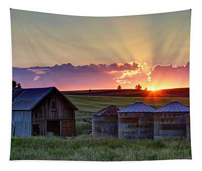 Home Town Sunset Tapestry