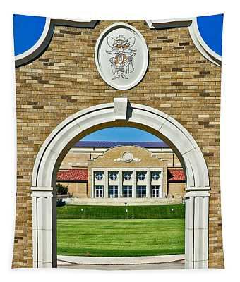 Tapestry featuring the photograph Homecoming Bonfire Arch by Mae Wertz
