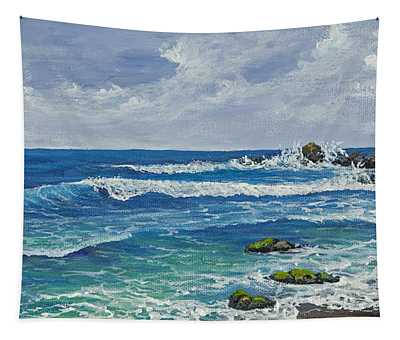Tapestry featuring the painting Hookipa by Darice Machel McGuire