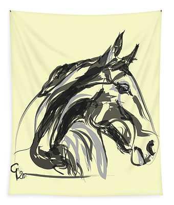 horse - Apple digital Tapestry