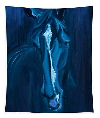 horse - Apple indigo Tapestry