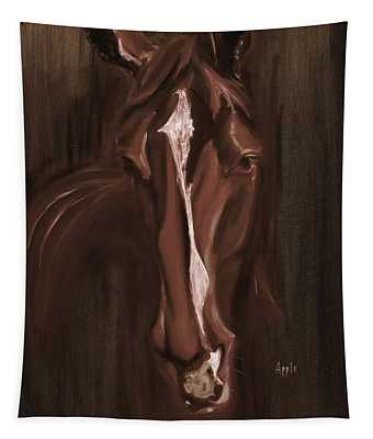 Horse Apple Warm Brown Tapestry