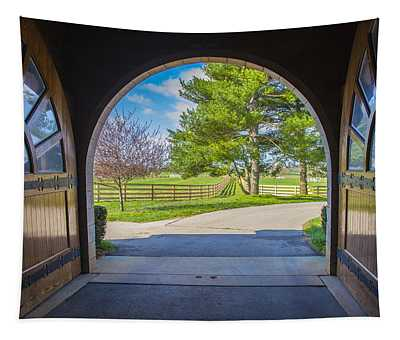 Horse Barn Tapestry