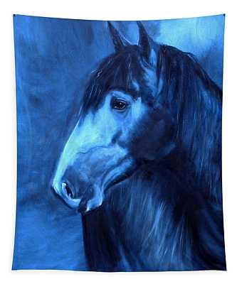 Horse - Carol In Indigo Tapestry