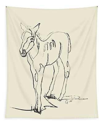 Horse- Foal -josje Tapestry