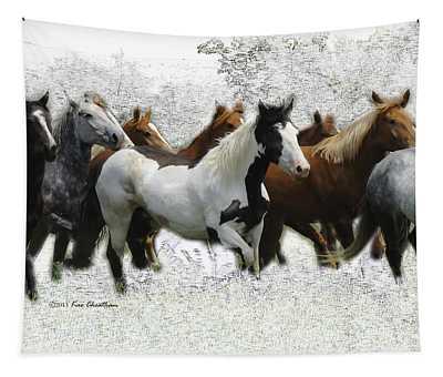 Horse Herd #3 Tapestry