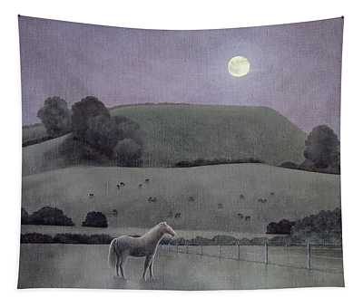 Horse In Moonlight, 2005 Oil On Canvas Tapestry