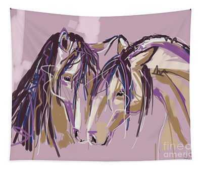 horses Purple pair Tapestry