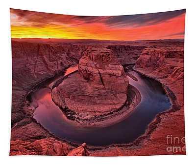 Horseshoe Bend Sunset Tapestry