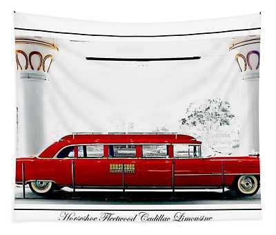 Horseshoe Fleetwood Cadillac Limousine Tapestry