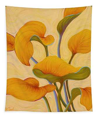 Tapestry featuring the painting Hosta Hoofin' by Sandi Whetzel
