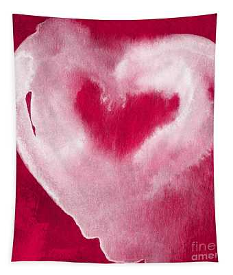 Hot Pink Heart Tapestry