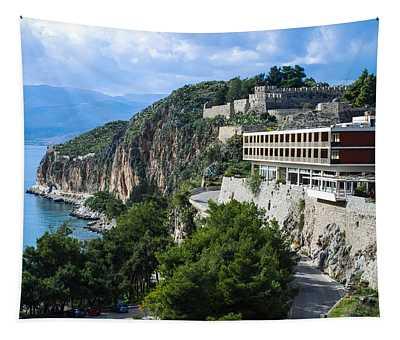 Hotel On Acronafplia Tapestry