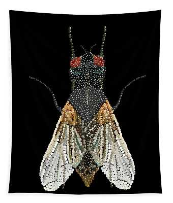 House Fly Bedazzled Tapestry