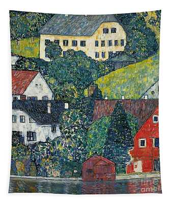 Houses At Unterach On The Attersee Tapestry