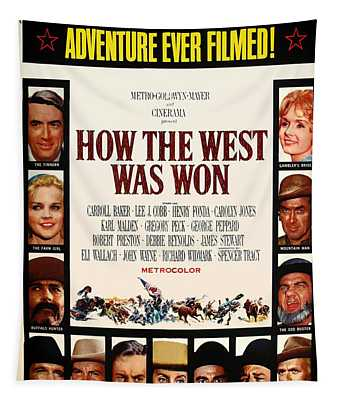 How The West Was Won Movie Poster 1962 Tapestry