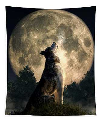 Howling Wolf Tapestry