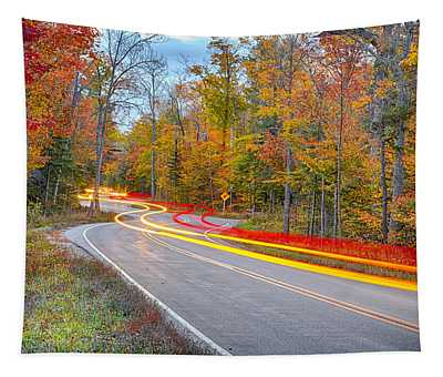 Hugging The Curves Tapestry