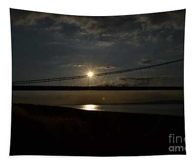 Humber Bridge Sunset Tapestry