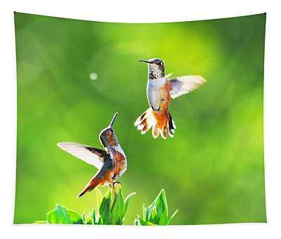 Hummingbird Dance  Tapestry