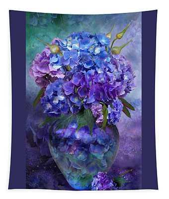 Hydrangeas In Hydrangea Vase Tapestry