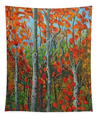 I Love Fall Tapestry