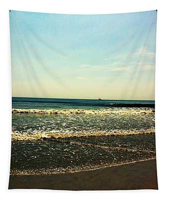 I Love The Beach Tapestry