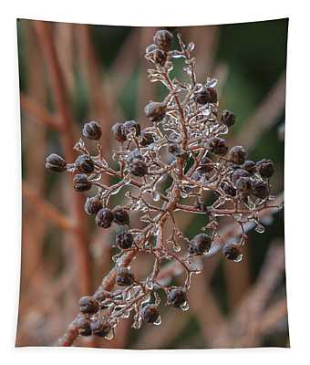 Ice On Berries Tapestry