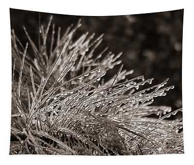 Ice On Pine Tapestry
