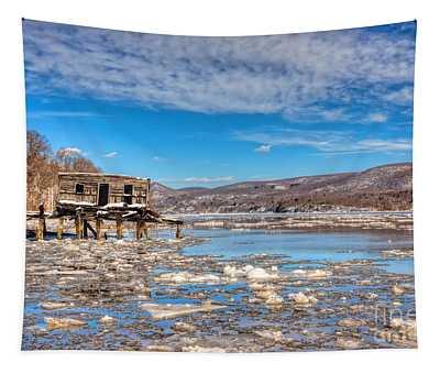 Ice Shack Tapestry