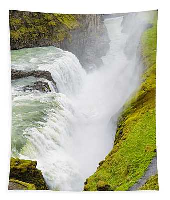 Iceland Gullfoss Waterfall Tapestry