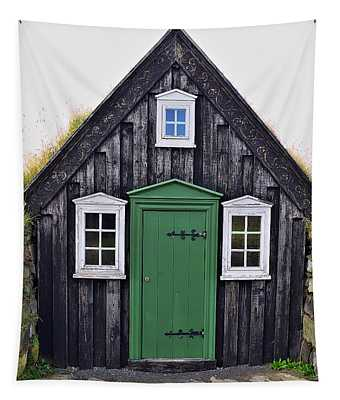 Icelandic Old House Tapestry