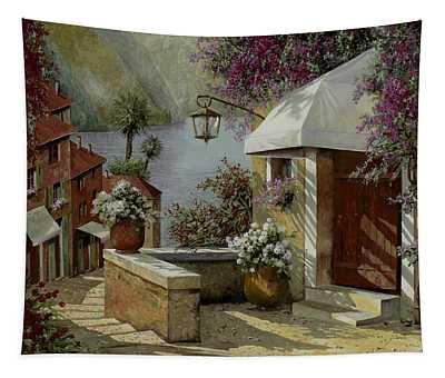 Il Lampione Oltre La Tenda Tapestry