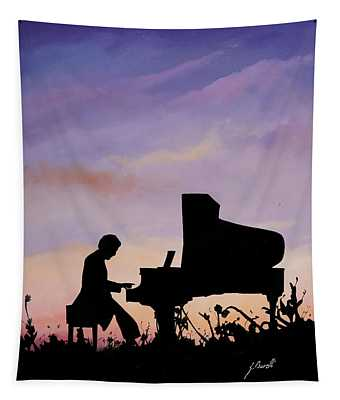 Piano Paintings Wall Tapestries