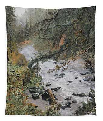 Il Ruscello Di Montagna Tapestry