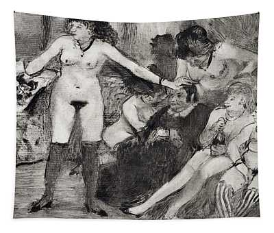 Illustration From La Maison Tellier By Guy De Maupassant  Tapestry
