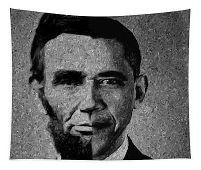 Impressionist Interpretation Of Lincoln Becoming Obama Tapestry